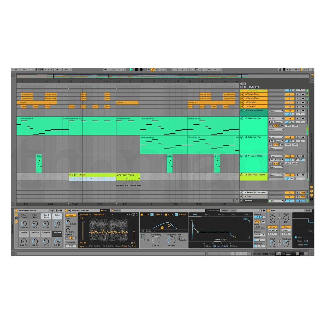Ableton Live 10 - Editing mode - DAW