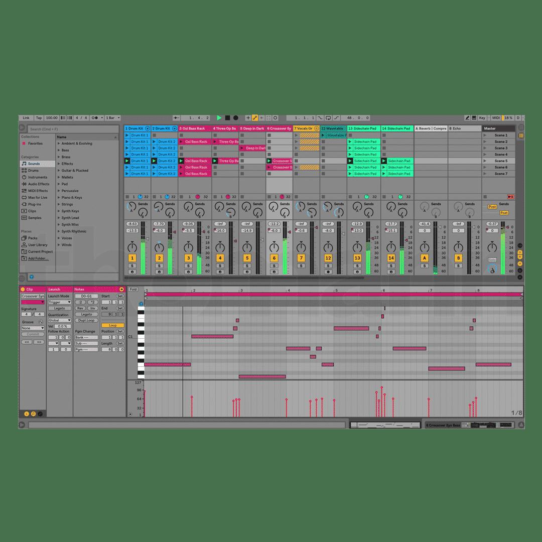 Ableton Live 10 - Live mode - DAW