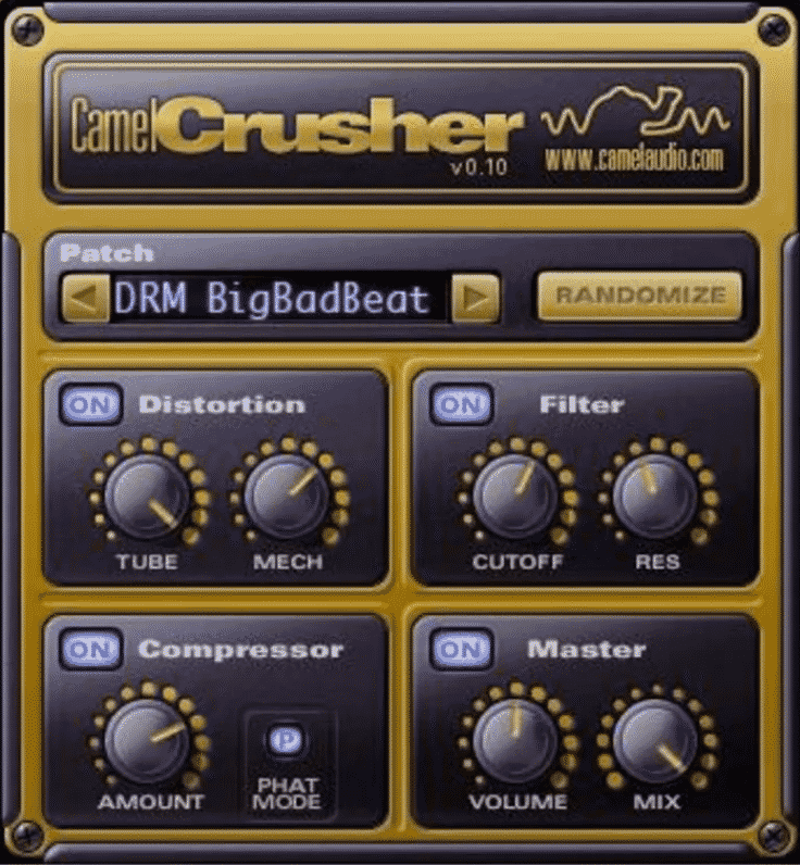 Camel Crusher - Plugin filtres - TOP10 - Classement - WE COMPOZE