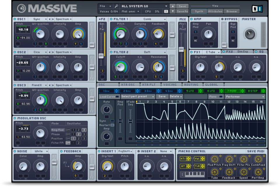Massive, Native Instruments, MAO, Sound Design, Oscillator, Filter, Plugin, VST, Synth