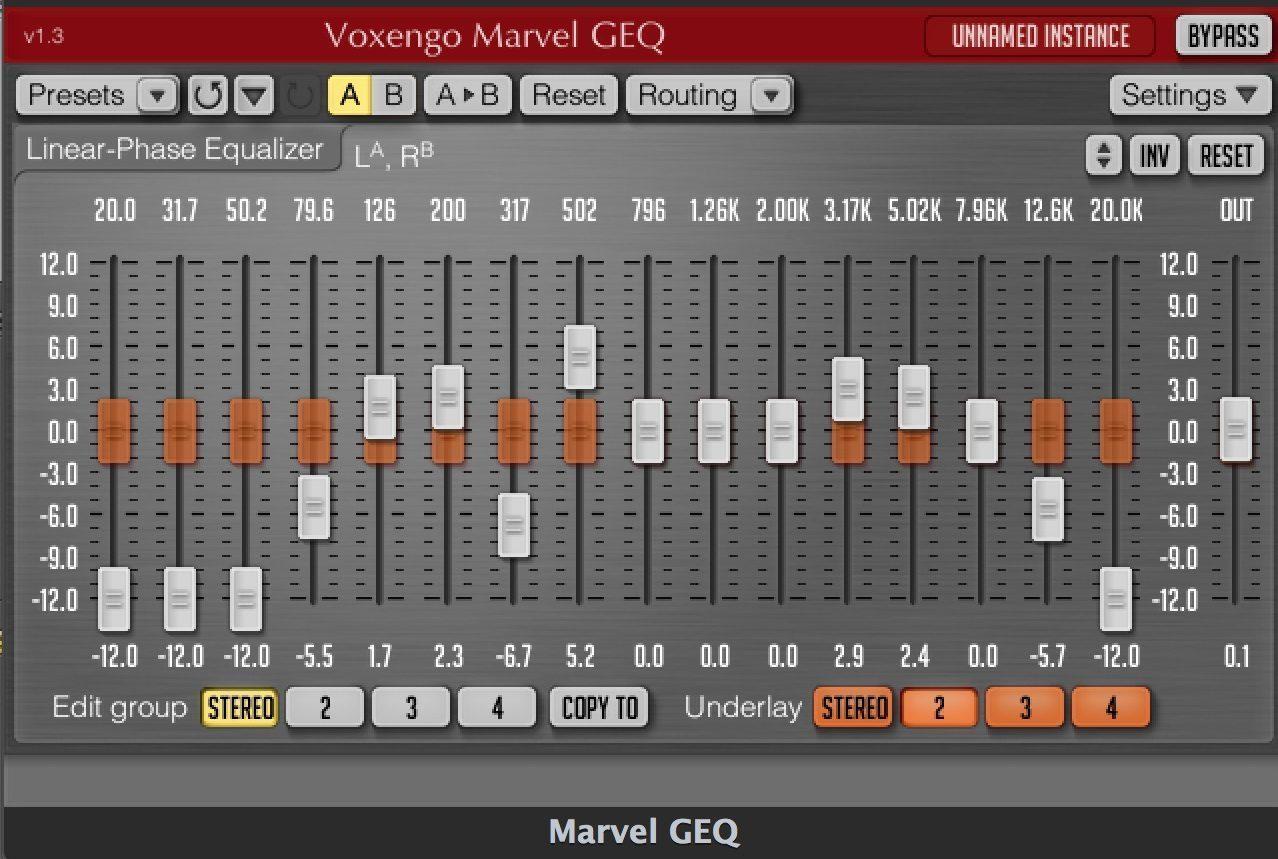 Voxengo Marvel GEQ - Plugin EQ - TOP10 - Classement - WE COMPOZE
