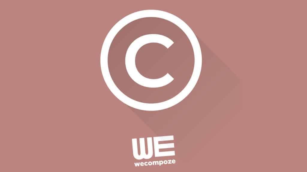 Droit d'auteur, droit moral, droit patrimonial - WE COMPOZE